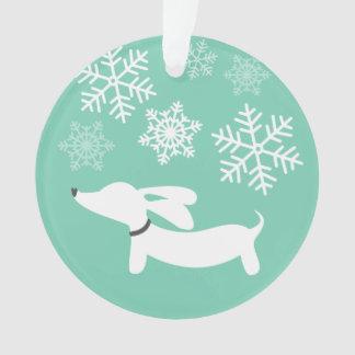 Ornement d'arbre de Noël de Doxie du pays des