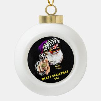 Ornement d'arbre de Noël de Gangsta Claus