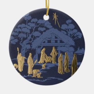 Ornement d'arbre de Noël de nativité