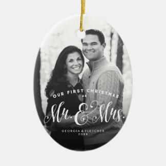 Ornement d'arbre de Noël de nouveaux mariés