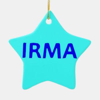 Ornement d'arbre de Noël d'Irma d'ouragan