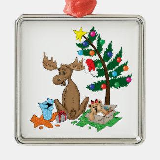 Ornement d'arbre de Noël d'orignaux