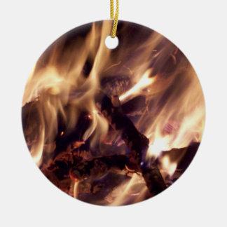 Ornement d'arbre de Noël du feu
