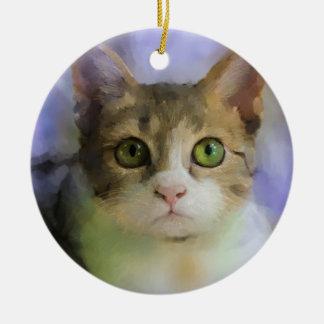 Ornement d'art de chat