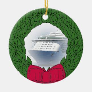 Ornement daté de Noël de bateau de croisière