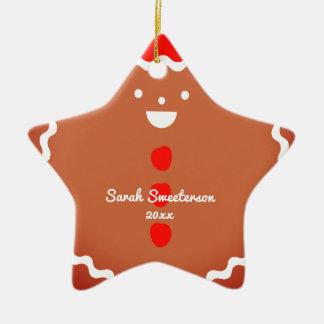 Ornement de biscuit de Noël d'étoile de bonhomme