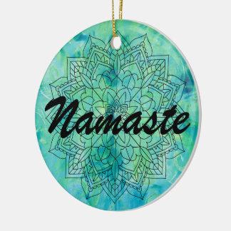 Ornement de bleu de mandala de Namaste