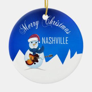 Ornement de bonhomme de neige de Nashville de