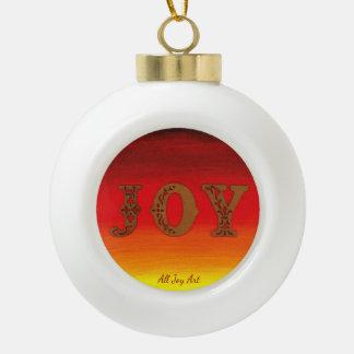 """Ornement de boule de """"JOIE"""" par tout l'art de joie"""