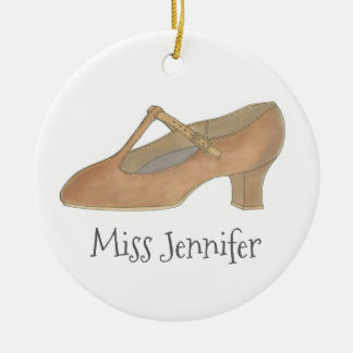 Ornement de cadeau de chaussure de caractère de