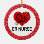 Ornement de cadeau de Noël d'infirmière d'ER