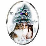 Ornement de cadeaux de Noël de chien de berger de  Photo Sculpture