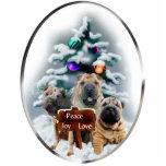 Ornement de cadeaux de Noël de Shar-Pei de Chinois Photo En Relief