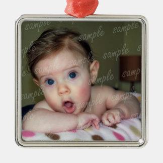 Ornement de cadre de tableau de bébé avec le ruban