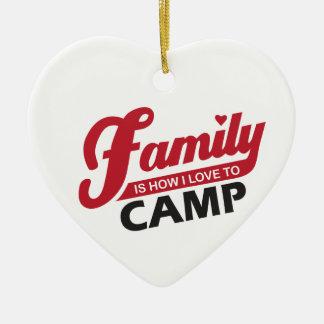 Ornement de camping de famille
