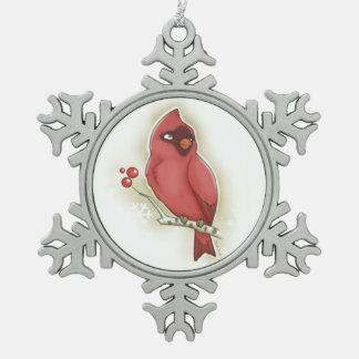 Ornement de cardinal et de canneberge