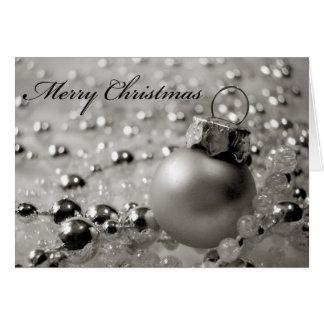 Ornement de carte de Noël avec des perles