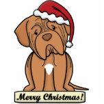 Ornement de Cartoon Dogue de Bordeaux Christmas Ornement Photo Sculpture