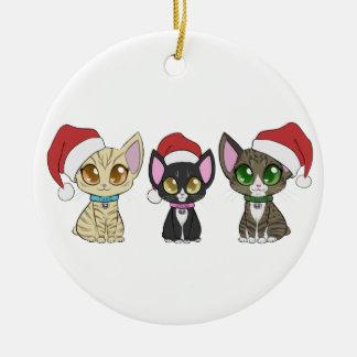 Ornement de chats de Noël !