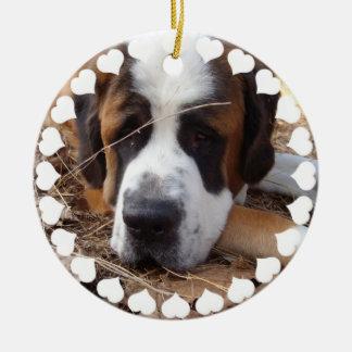 Ornement de chien de St Bernard