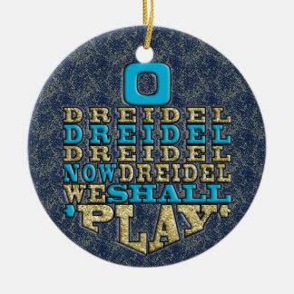 "Ornement de /Circle de Hanoukka ""O Dreidel"