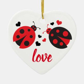 Ornement de coeur d'amour de Valentine de