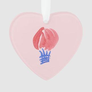 Ornement de coeur de ballon à air