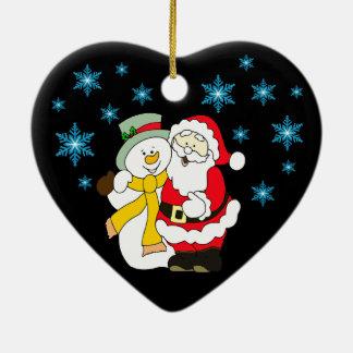 Ornement de coeur de Joyeux Noël