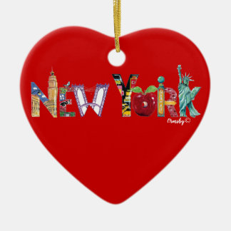 Ornement de coeur de New York