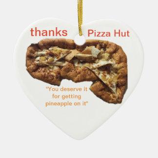 Ornement de coeur de TNIT (pizza pauvre)