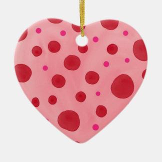 Ornement de coeur de Valentines classé par double