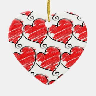 Ornement de coeur peu de cadeau accrochant