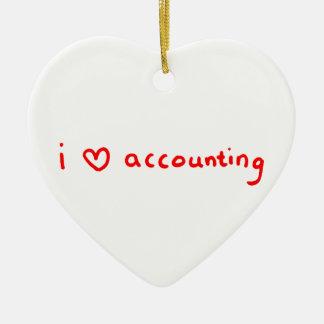 Ornement de comptable - comptabilité d'amour d'I