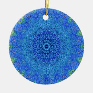 Ornement de conception d'abrégé sur bleu et vert