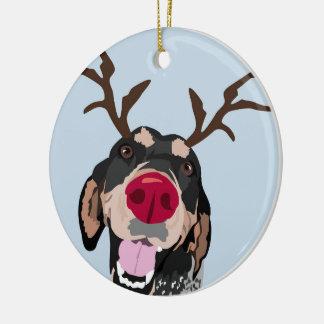 Ornement de Coonhound de Rudolph Bluetick