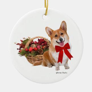 """Ornement """"de corgi de Noël"""""""