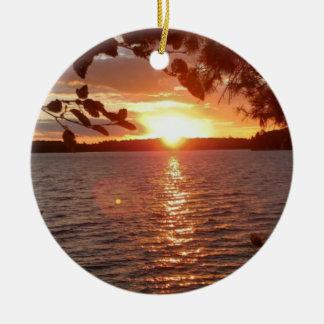 Ornement de coucher du soleil
