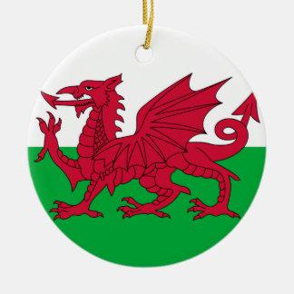 Ornement de drapeau de dragon de Gallois