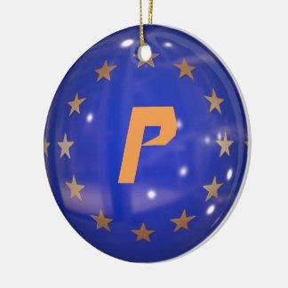 Ornement de drapeau d'Union européenne du Portugal