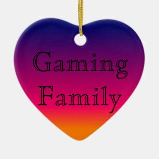 Ornement de famille de jeu