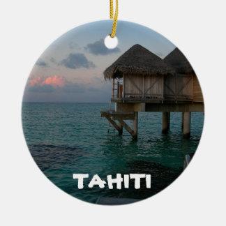Ornement de fête de cercle de lagune du Tahiti