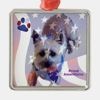 Ornement de fierté de drapeau de Terrier de cairn