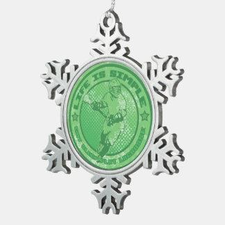 Ornement de flocon de neige d'arbre de Noël de lac