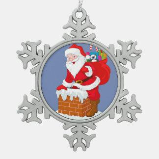 Ornement de flocon de neige de Père Noël