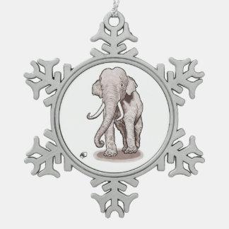 Ornement de flocon de neige d'éléphant de