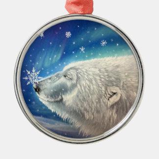 Ornement de flocons de neige d'ours blanc