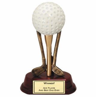 Ornement de joueur d'as de golf découpages en acrylique