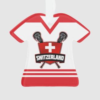 Ornement de lacrosse de la Suisse de nom et de