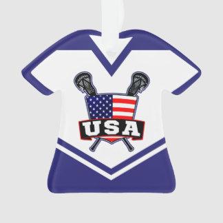Ornement de lacrosse des Etats-Unis Amérique de
