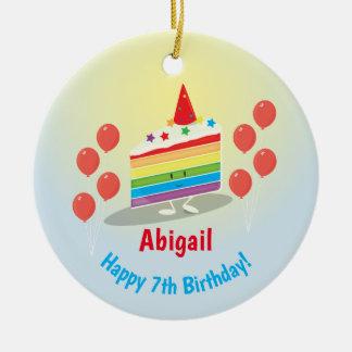 Ornement de l'anniversaire | de gâteau